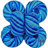 Vardhman Acrylic Knitting Wool (Multi Azure)-6 pc
