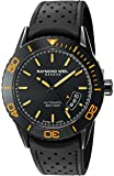 Raymond Weil Men's 'Freelancer' Swiss Automatic Stainless Steel and Rubber Dress Watch, Color:Black (Model: 2760-SB2-20001)