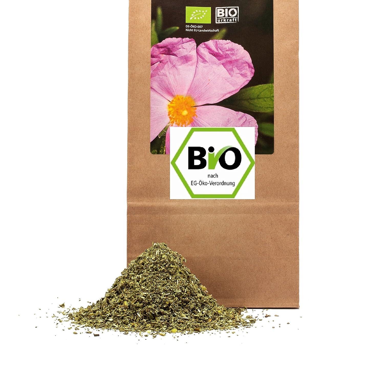 1000 g Bio Cistus Bio Zistrosenkraut geschnitten in geprüfter Premium Qualität ökologischer Anbau östliches Mittelmeer Moringa Familienbetrieb