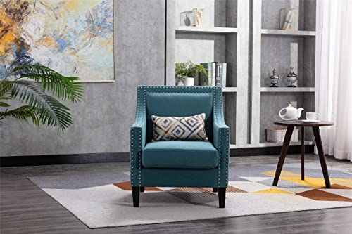 SSLine Accent Arm Chair,Modern Upholstered Linen Fabric Accent Chair Barrel Chair,Club Chair