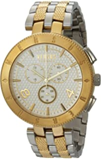 Versus by Versace Mens LOGO GENT CHRONO Quartz Stainless Steel Casual Watch, Color