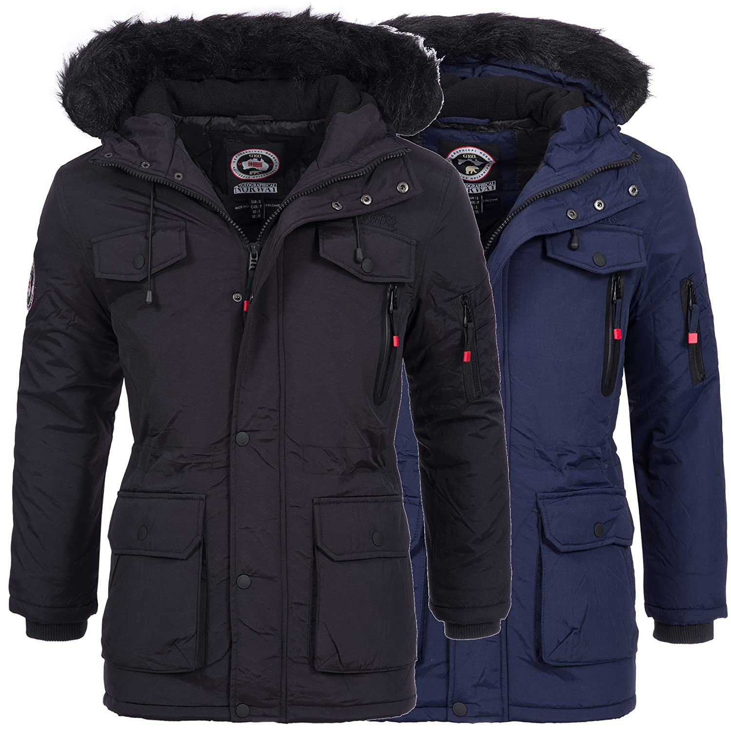 geographical norway alos herren winterjacke jacke parka mantel warm gef ttert gr s xxxl kaufen. Black Bedroom Furniture Sets. Home Design Ideas
