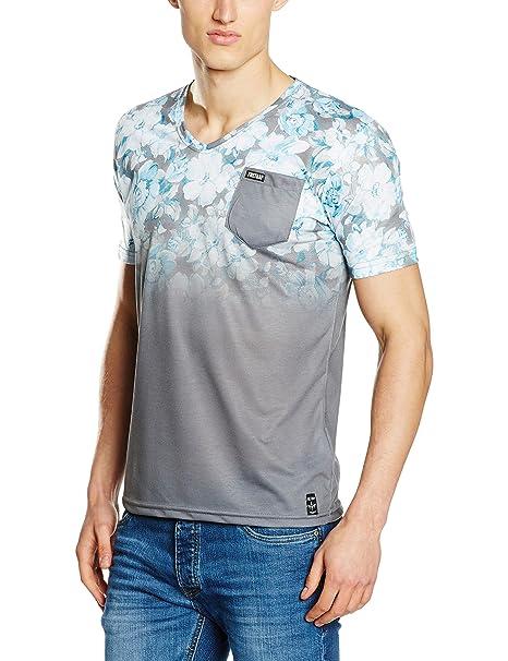 Firetrap Herren T-Shirts Mens Tee Fedette, Multicoloured (Grey), Small