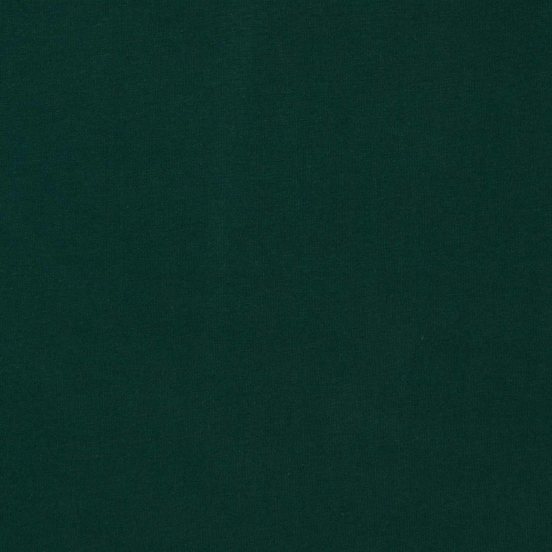 MIRABLAU DESIGN Stoffverkauf Jersey Bio Baumwolle GOTS grün dunkelgrün Uni (3-052M) 0,5m Lebenskleidung