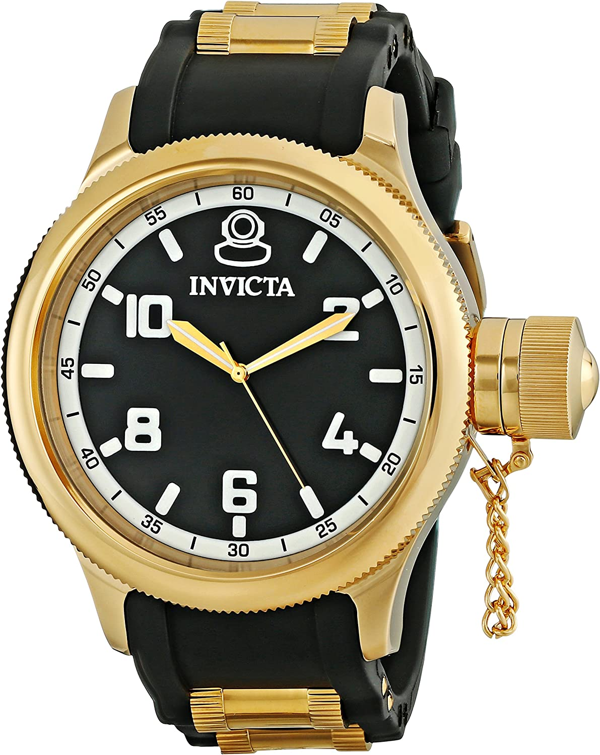 Invicta Men s Russian Diver 18k Black Gold Ion-Plated Stainless Steel Watch 1436
