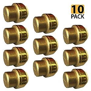 "[10-Pack] PROCURU 1/2-Inch PushFit End Cap - Plumbing Fitting for Copper, PEX, CPVC, Lead Free Certified (0.5 Inch (1/2""), 10-Pack)"