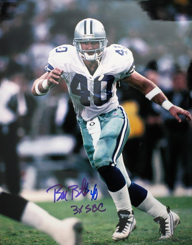 Autographed Bill Bates Dallas Cowboys 11x14 photo w//COA