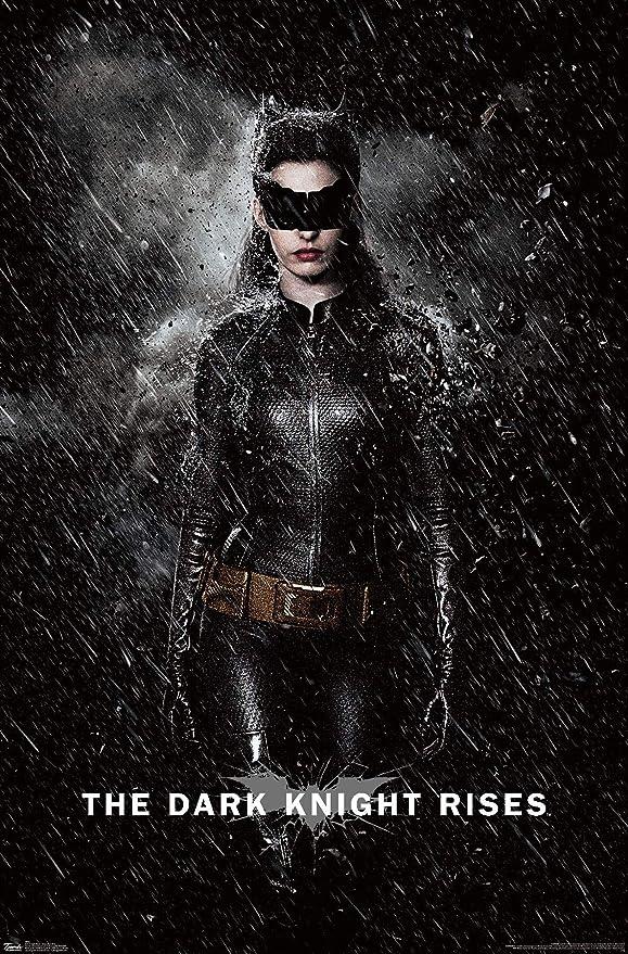 Amazon Com Trends International Dc Comics Movie The Dark Knight Rises Catwoman Rain Wall Poster 22 375 X 34 Premium Unframed Version Posters Prints