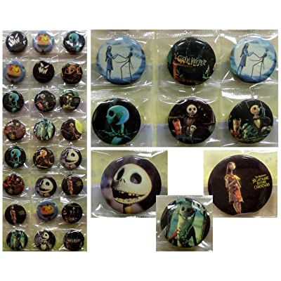 "NIGHTMARE BEFORE CHRISTMAS Button Pin Set - Birthday Party Favors - Set of 24 1"" Backpack Nightmare Before Christmas Buttons: Toys & Games [5Bkhe1007379]"