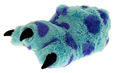 43450645308a Boys Novelty Slippers Blue Monster Claws Yeti Foot Feet Funny Comfy Shoe  Slipper Blue UK 12