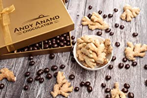 Andy Anand's California Dark Chocolate Covered Ginger 1 lbs, for Birthday, Valentine Day, Gourmet Christmas Holiday Food Gift Basket, Thanksgiving, Mothers Fathers Day, Get Well Basket for Men & Women