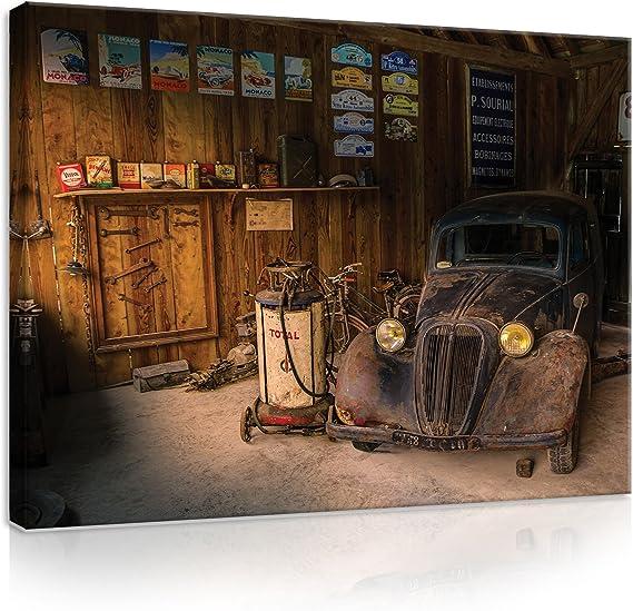 Officina Vintage Garage Auto Stazione di Servizio Rockabilly Poster Repro-Segno