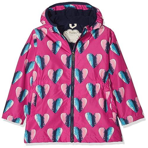 8eb8c950e128 Hatley Kids Hearts Microfiber Rain Jacket - 100% Waterproof  Amazon ...