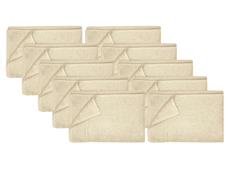 Dyckhoff Kristall 10er-Pack Frottiertücher - Uni - - - 100% Baumwolle 167.178, Badvorleger (50 x 75 cm), steingrau B00GS4IJTQ Handtücher 70a168