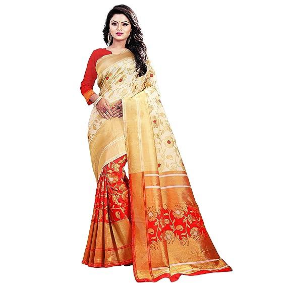805fed34069 RK Fashion chekered zari work banarasi kanjivaram silk cottan new saree  with blouse: Amazon.in: Clothing & Accessories