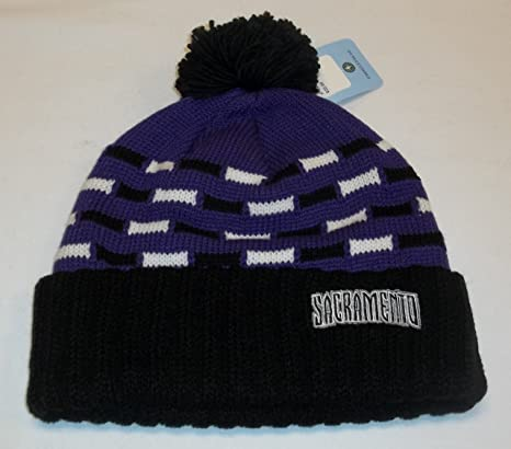 b4b98d74280 Image Unavailable. Image not available for. Color  adidas Sacramento Kings  Cuffed Knit Hat w Pom ...