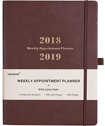 amazon com planner 2018 2019 with pen holder weekly appointment
