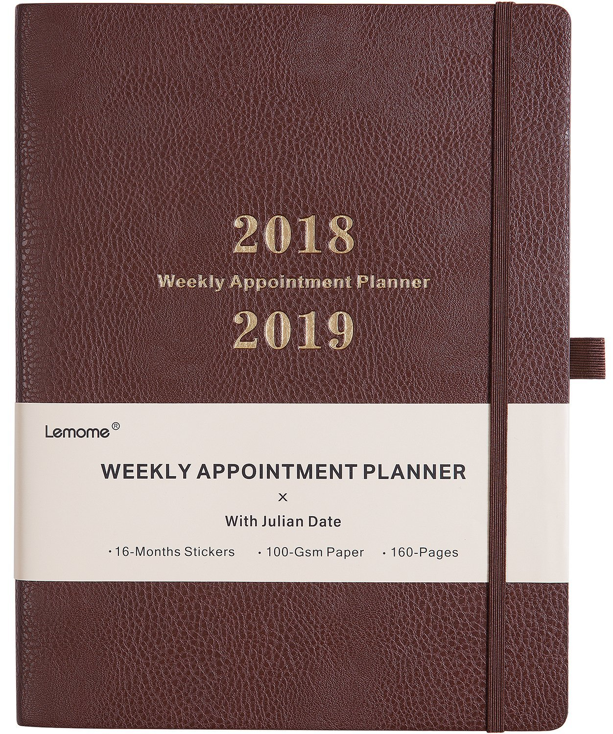 Planner 2018-2019 with Pen Holder -Weekly Appointment Book/Planner with TO-DO LIST, Thick Paper to Achieve Your Goals & Improve Productivity, 8.5'' x 11'', Back Pocket with Julian Date