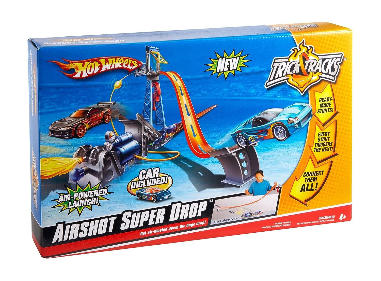 Amazon.com: Hot Wheels Trick Tracks Airshot Super Drop Stunt Set: Toys & Games