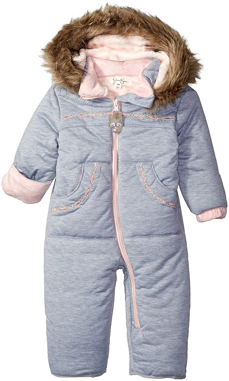 Jessica Simpson baby-girls Baby Heathered Microfiber Polyfilled Pram O_JS1942