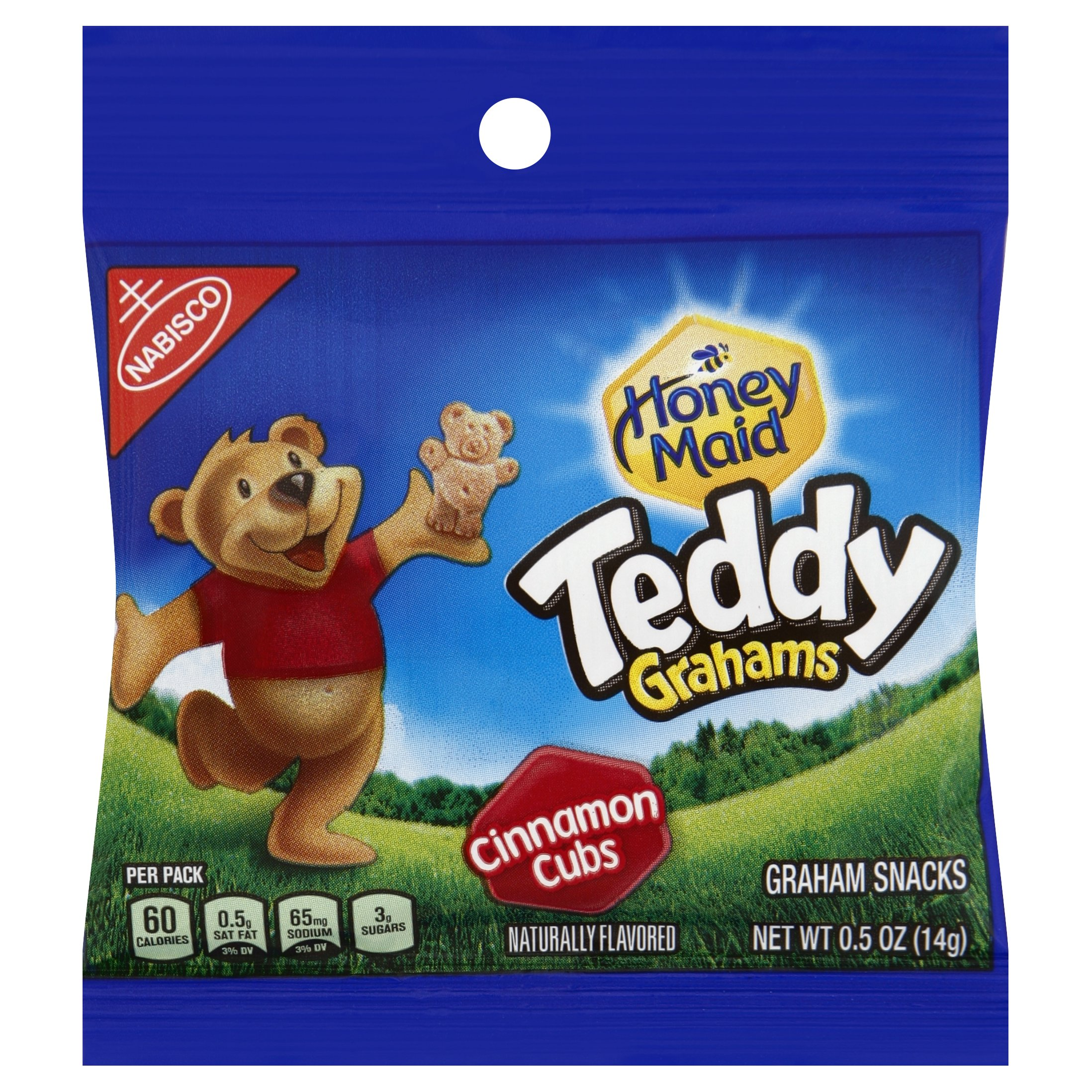 Nabisco Honey Maid Teddy Graham Cubs, Cinnamon, 0.5-Ounce Bags (Pack of 150)
