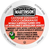Martinson Single Serve Coffee Capsules, Cayman Coconut, Compatible with Keurig K-Cup Brewers, 24 Count