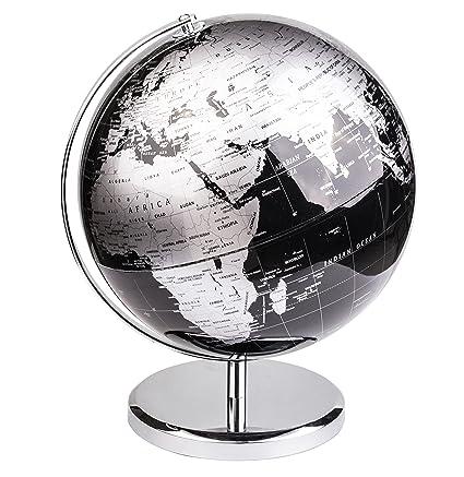 Exerz 30 CM Globo terráqueo - en Inglés - Decoración de escritorio educativa/geográfica/