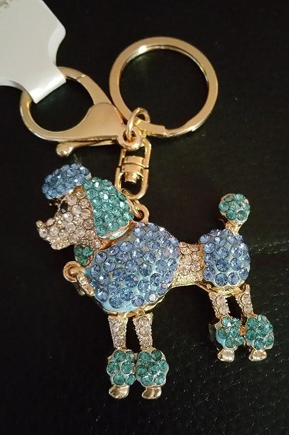 Amazon.com: Azul Rhinestone perrito faldero Llavero: Mascotas
