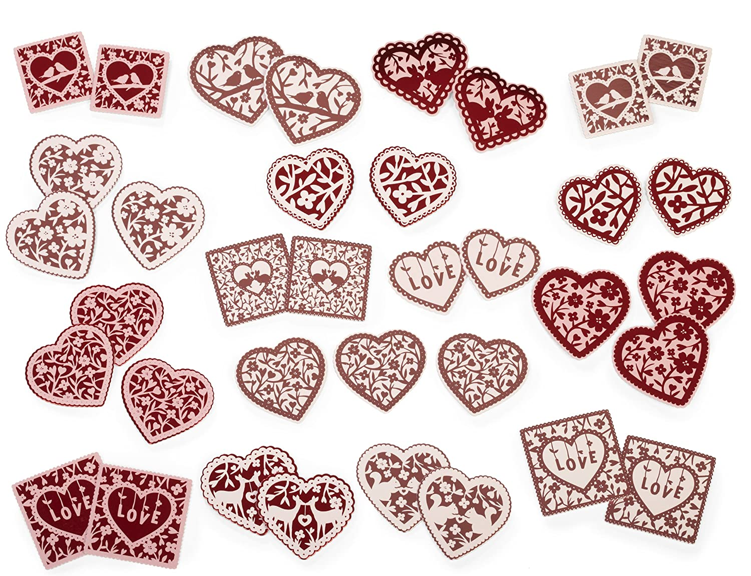 amazoncom martha stewart crafts valentines day foil hearts stickers