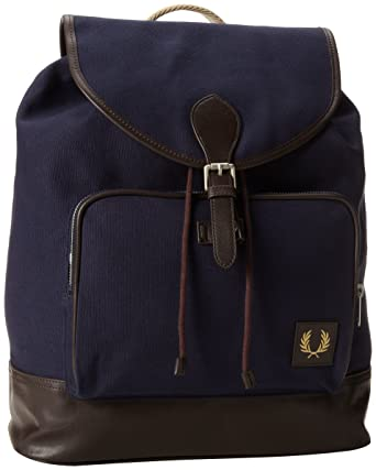 Bleu Homme dos Canvas Sacs homme à pour FRED TU Backpack PERRY Sq6144