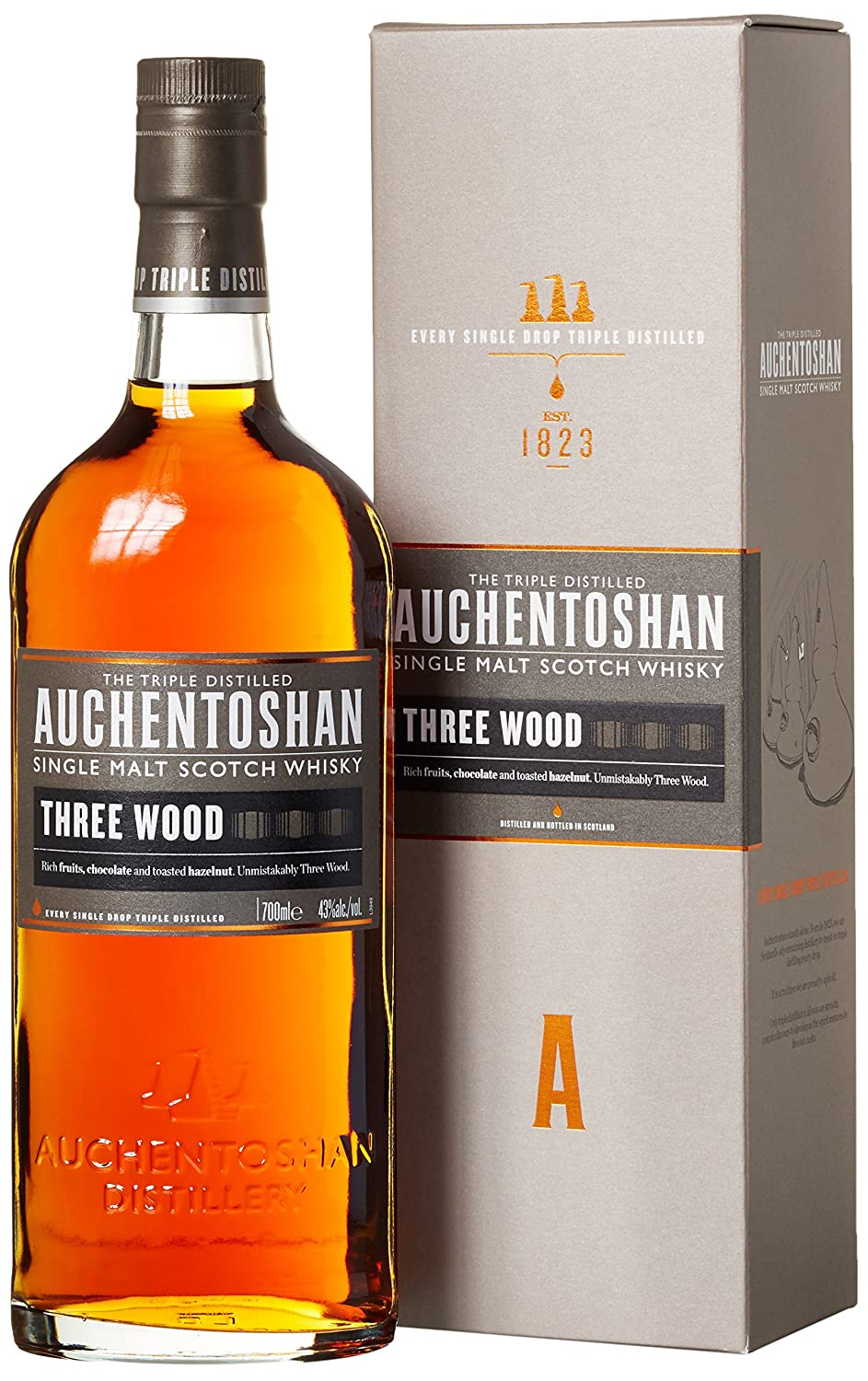 Auchentoshan Three Wood Whisky Single Malt- 700 ml: Amazon.es: Alimentación y bebidas