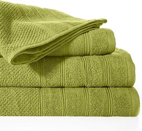 Design91 100/% algod/ón, 50 x 90 cm Color Verde Oliva Toalla de Mano