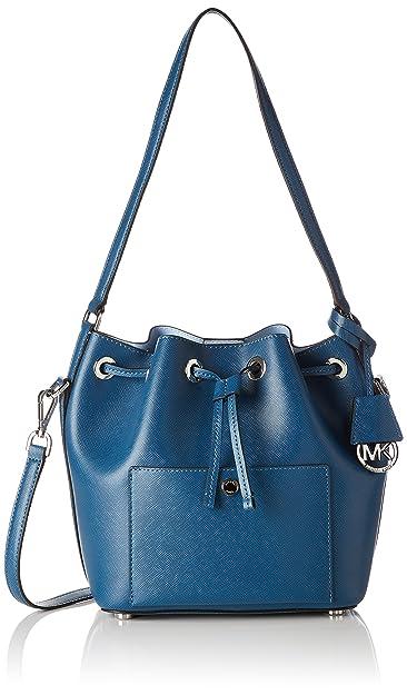 573c46f2ab49 Amazon.com  MICHAEL Michael Kors Greenwich Medium Bucket Bag (Steel Blue)   Shoes