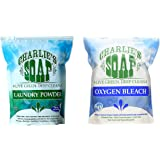 Charlie's Soap Hypoallergenic 100 load Laundry Powder Bundle With Charlie's Oxygen Bleach