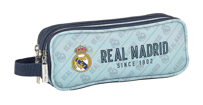 Safta Estuche Real Madrid Corporativa Oficial Triple cremallera 210x70x85mm