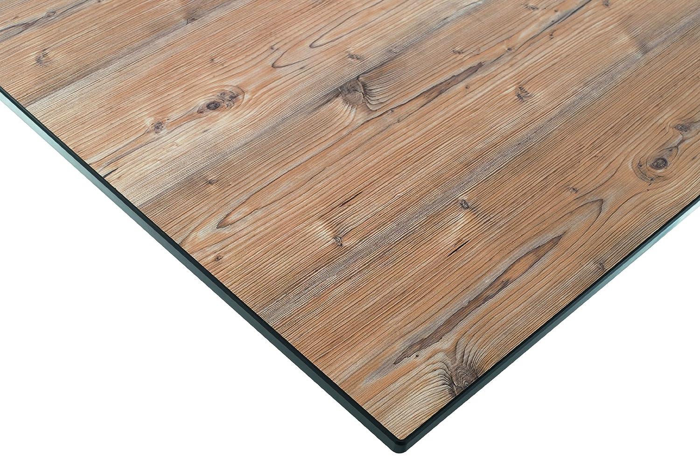Gestell Aluminium marone 165 x 95 cm Sieger 1780-75 Exclusiv-Tisch mit Puroplan-Platte Tischplatte Holzstruktur Fichte