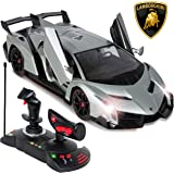 Best Choice Products 1/14 Scale RC Lamborghini Veneno Gravity Sensor Remote Control Car Silver