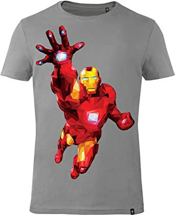 GOZOO The Avengers T-Shirt Herren Iron Man - Polygon Edition 100% Baumwolle  2XL