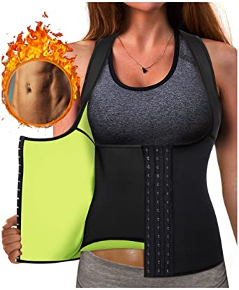 11e70ccfb5 Eleady Best Neoprene Waist Trainer Corset Sweat Vest Weight Loss Body  Shaper Workout Tank Tops Women