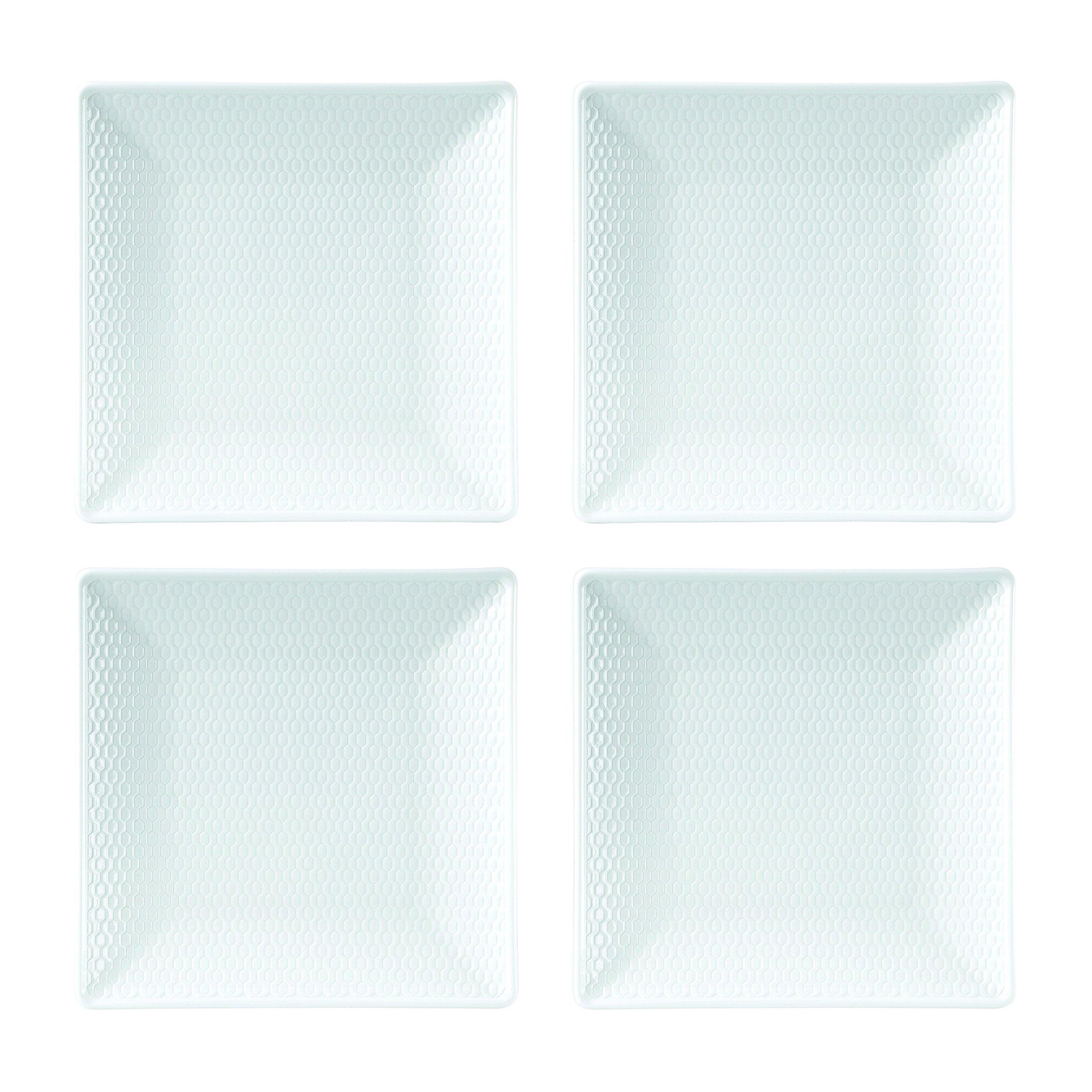 Wedgwood 40023852 Gio Mini Plate Square 5.7'' Set/4, 0.74'', White