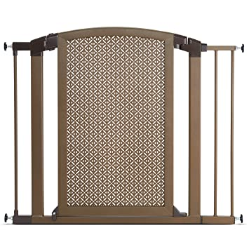 Munchkin Decorative Metal Pressure Mount Baby Gate For Stairs, Hallways And  Doors, MKSA0658