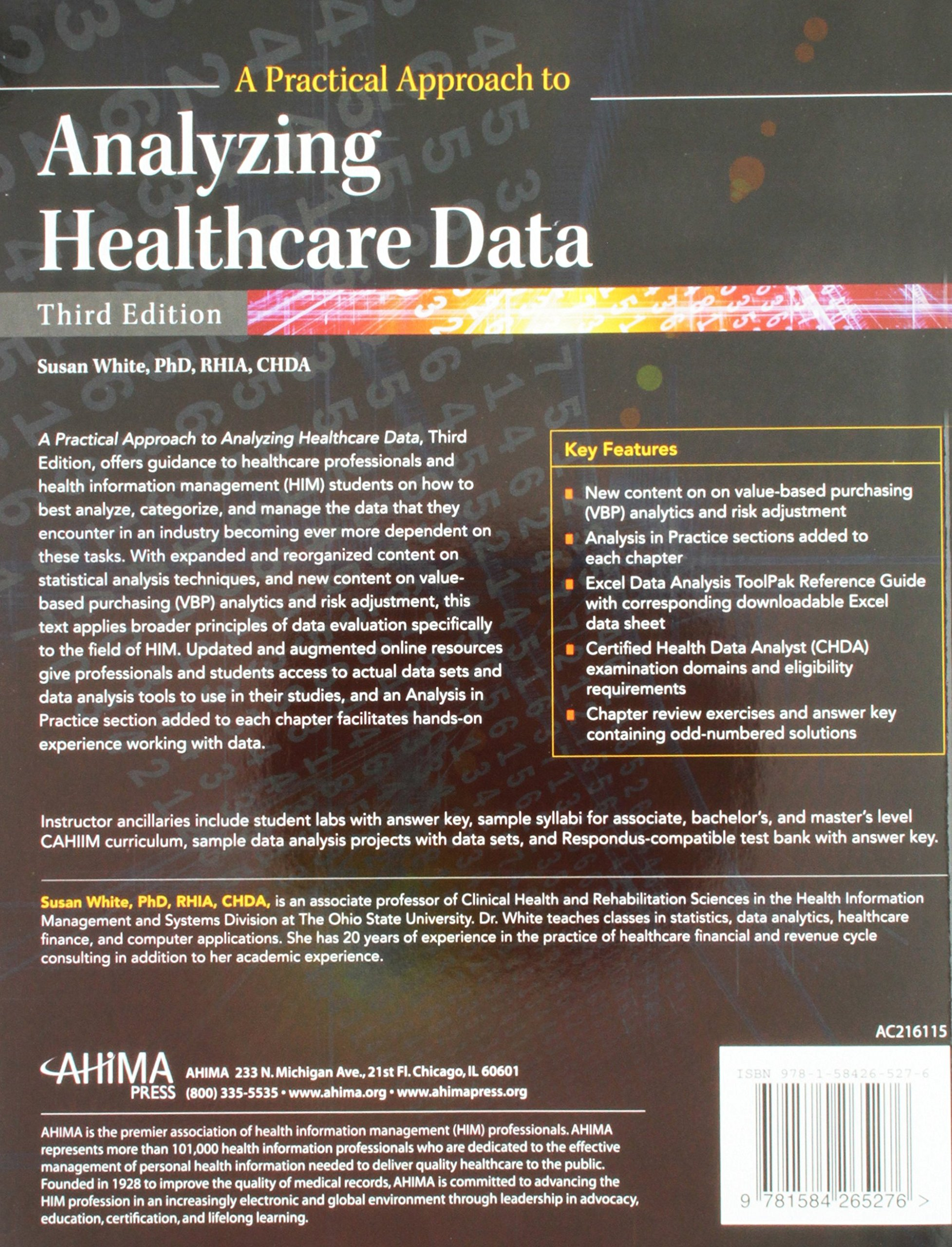Certified health data analyst acda certification data analyst buy a practical approach to analyzing healthcare data book online at low prices in india a xflitez Choice Image