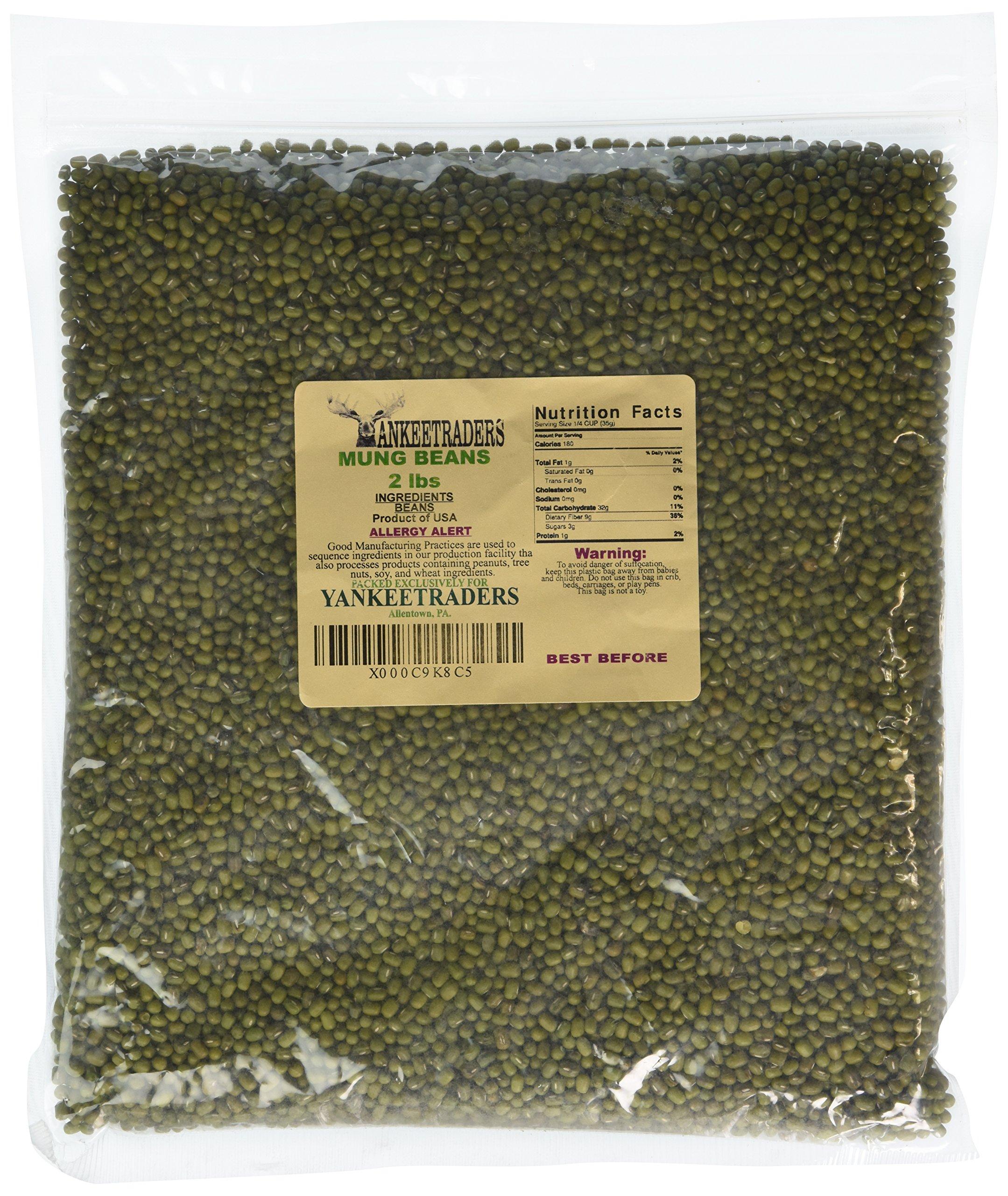 Mung Beans / Yankee Trader Net llc Brand - 2 Lbs by YANKEETRADERS