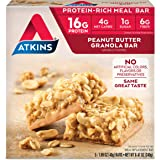 Atkins Protein-Rich Meal Bar, Peanut Butter Granola, 5 Count