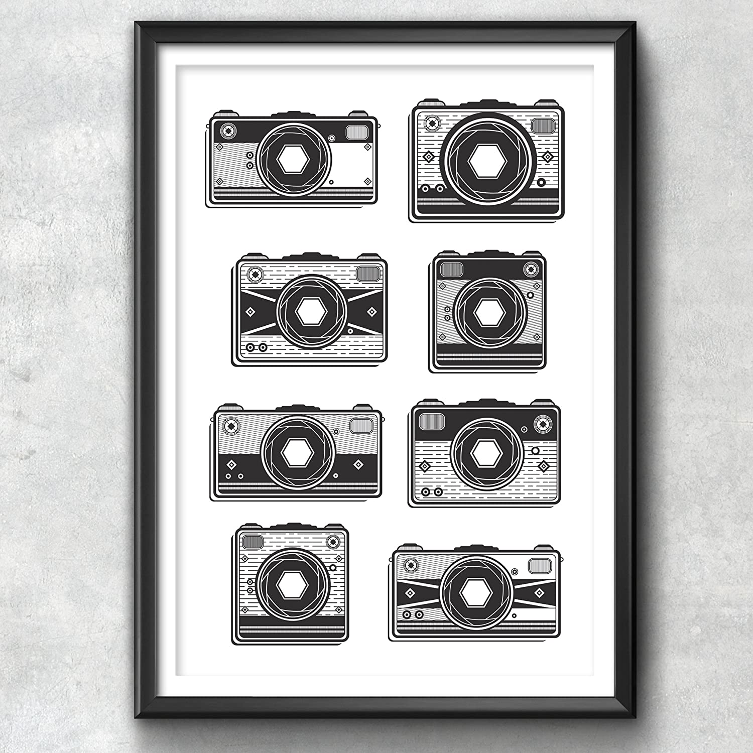 Camera Poster//Print//Colorful Photography//Vintage Camera Poster//13x19 inch
