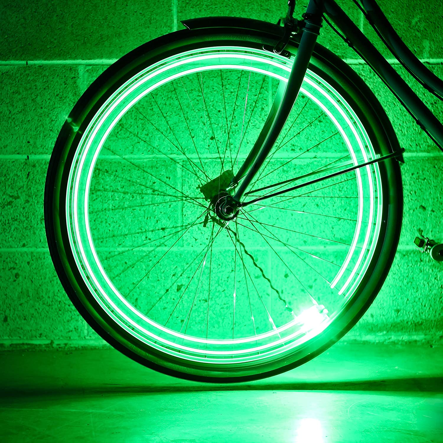 Monkey Light A15 Automatic Bicycle Wheel Light, Multicolor LED Lights for Bicycle Wheels, Attaches to Bike Spokes Near The Tire. Colors Change with Your Speed, Ultra-Durable and Waterproof. 4 LEDs