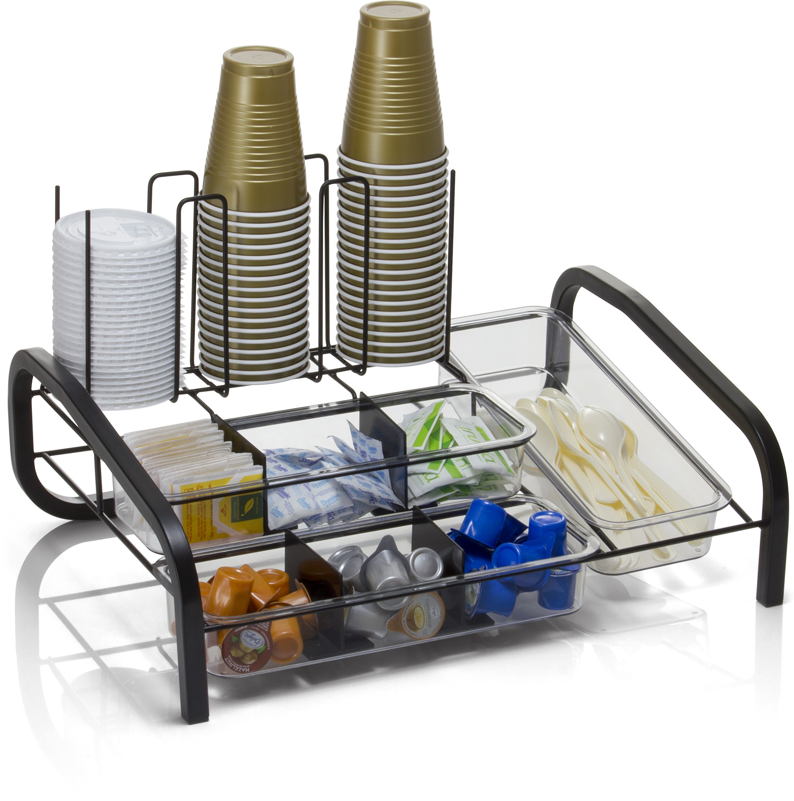 Officemate BreakCentral Multi Breakroom Organizer and Coffee Pod Holder, Black (28002) by Officemate