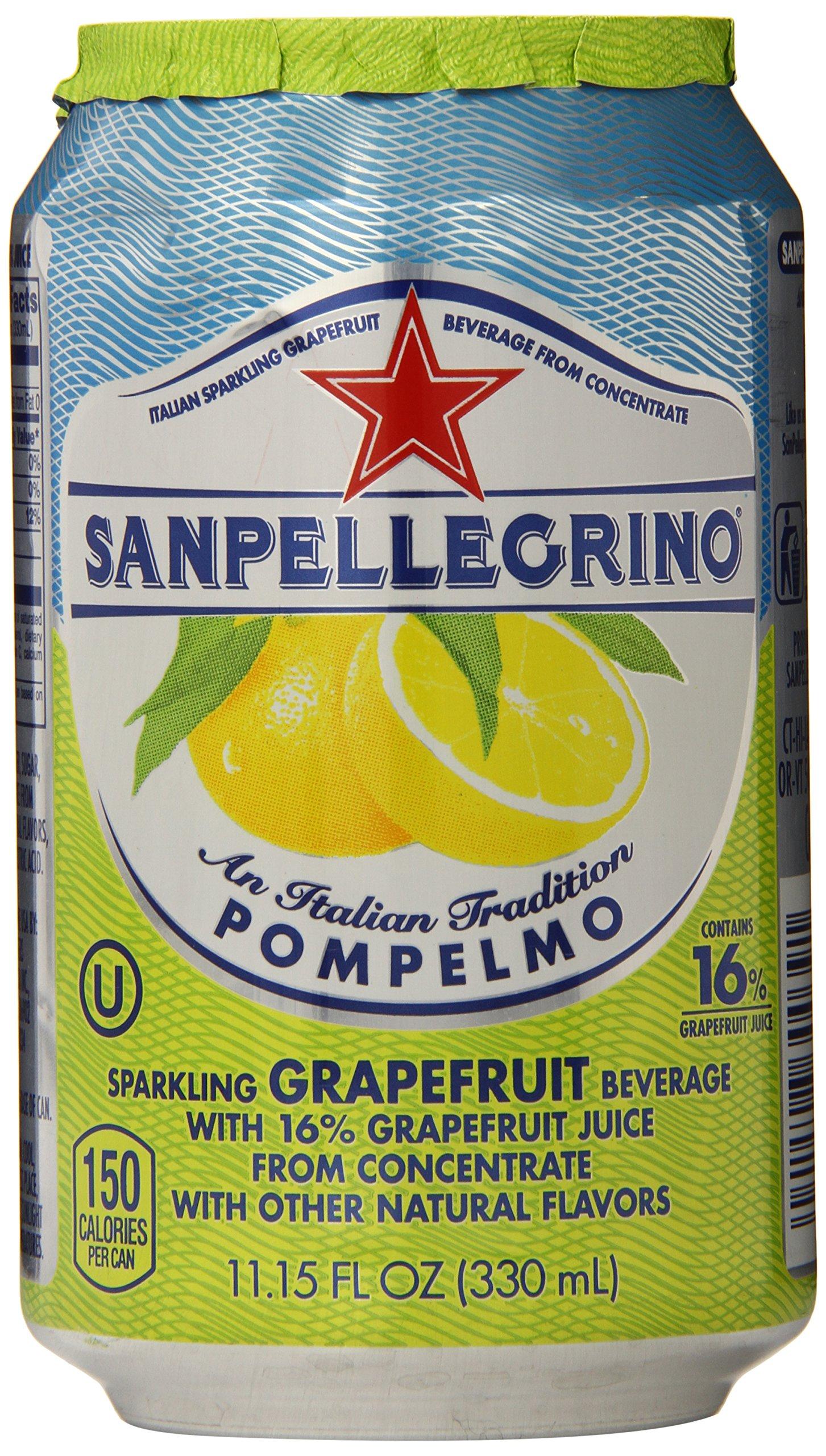 Sanpellegrino Grapefruit Sparkling Fruit Beverage, 11.15 fl oz. Cans (6 Count)