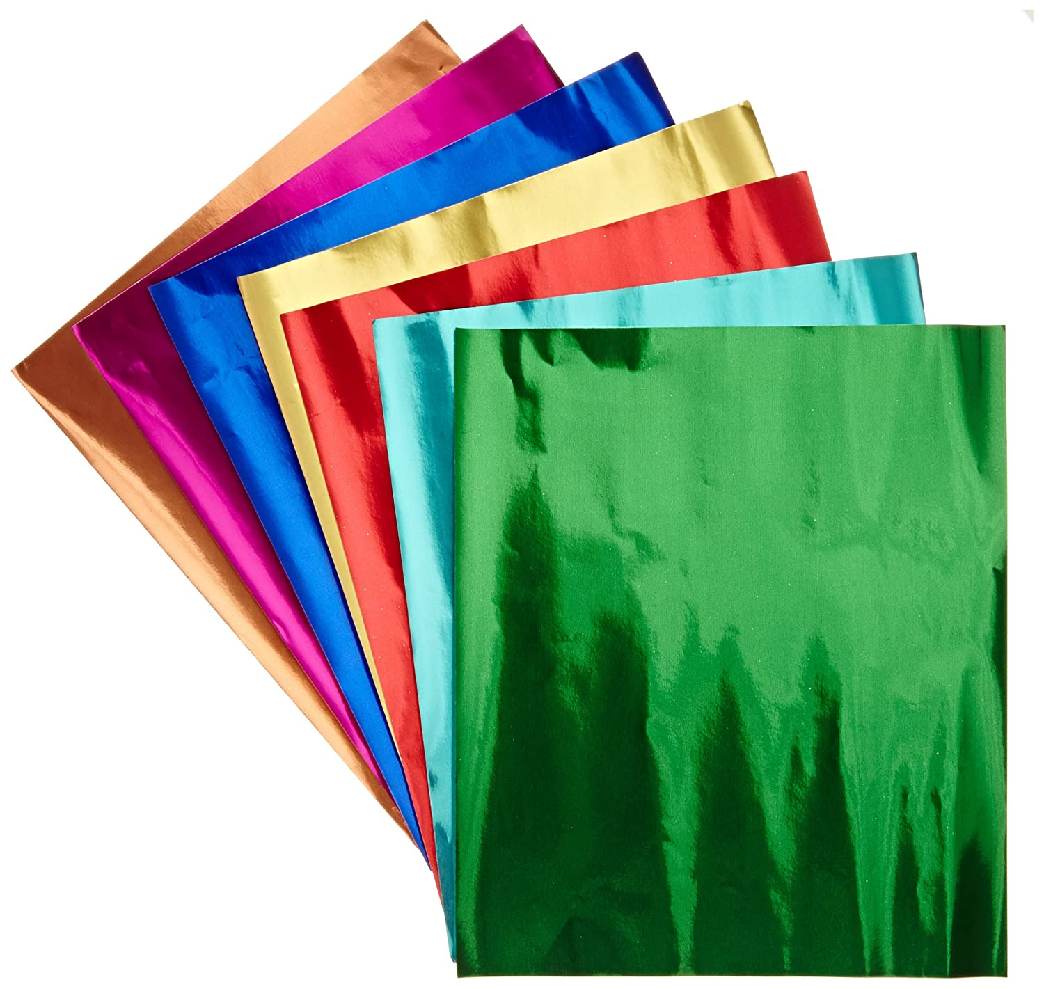 hygloss products metallic foil paper sheets 8 assorted colors 8 1