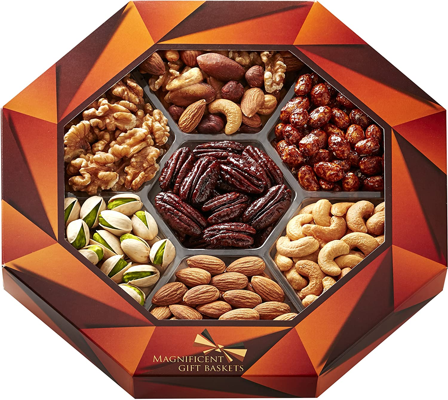 Gift Baskets Gourmet Food Nuts Gift Basket, 7 Different
